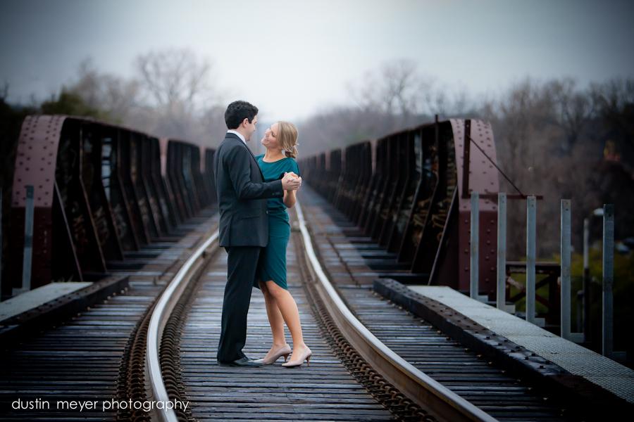 An engagement portrait in austin by wedding photographer Dustin Meyer.