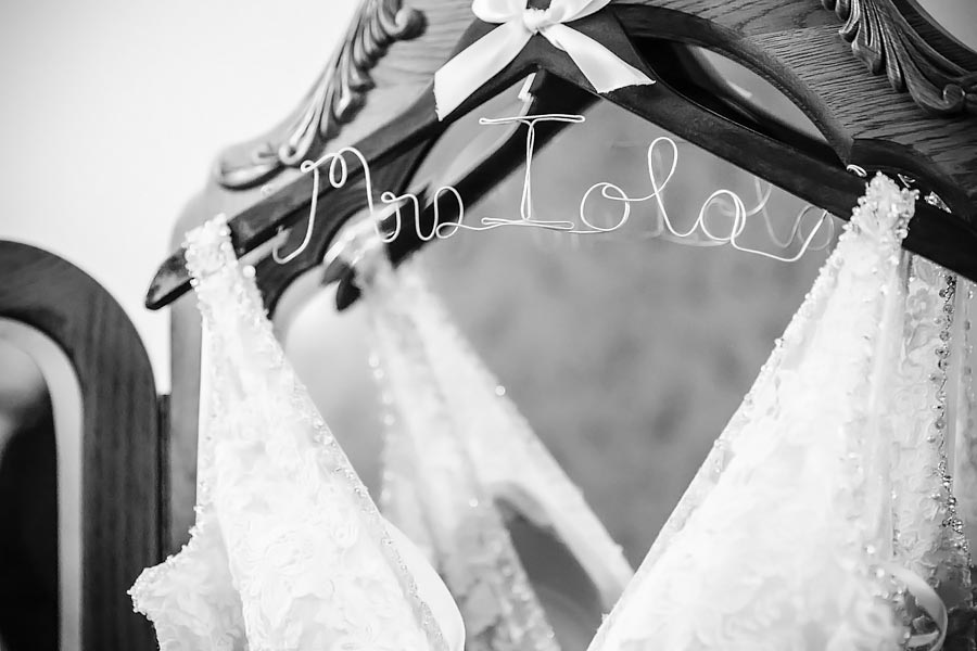custom bridal gown hanger