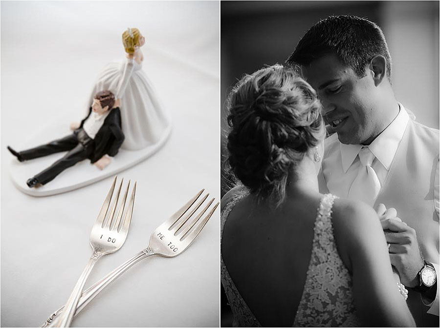 custom wedding cake engraved spoons