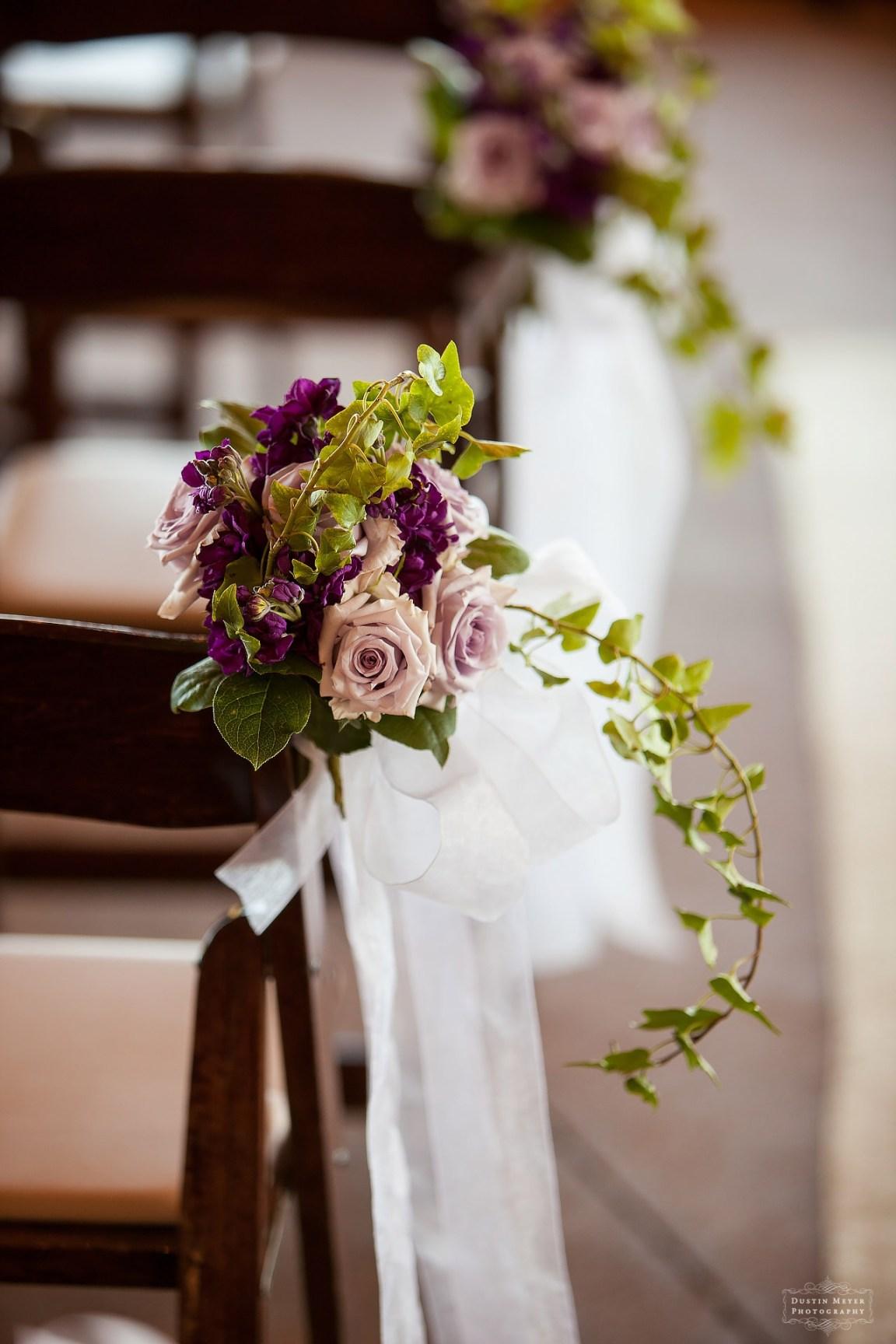 wedding ceremony floral arrangements