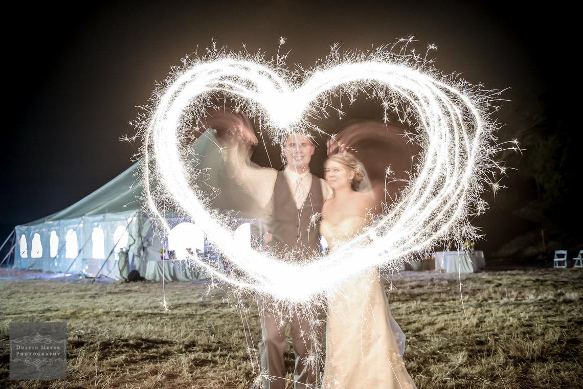 sparkler heart idea wedding photography hill country wedding