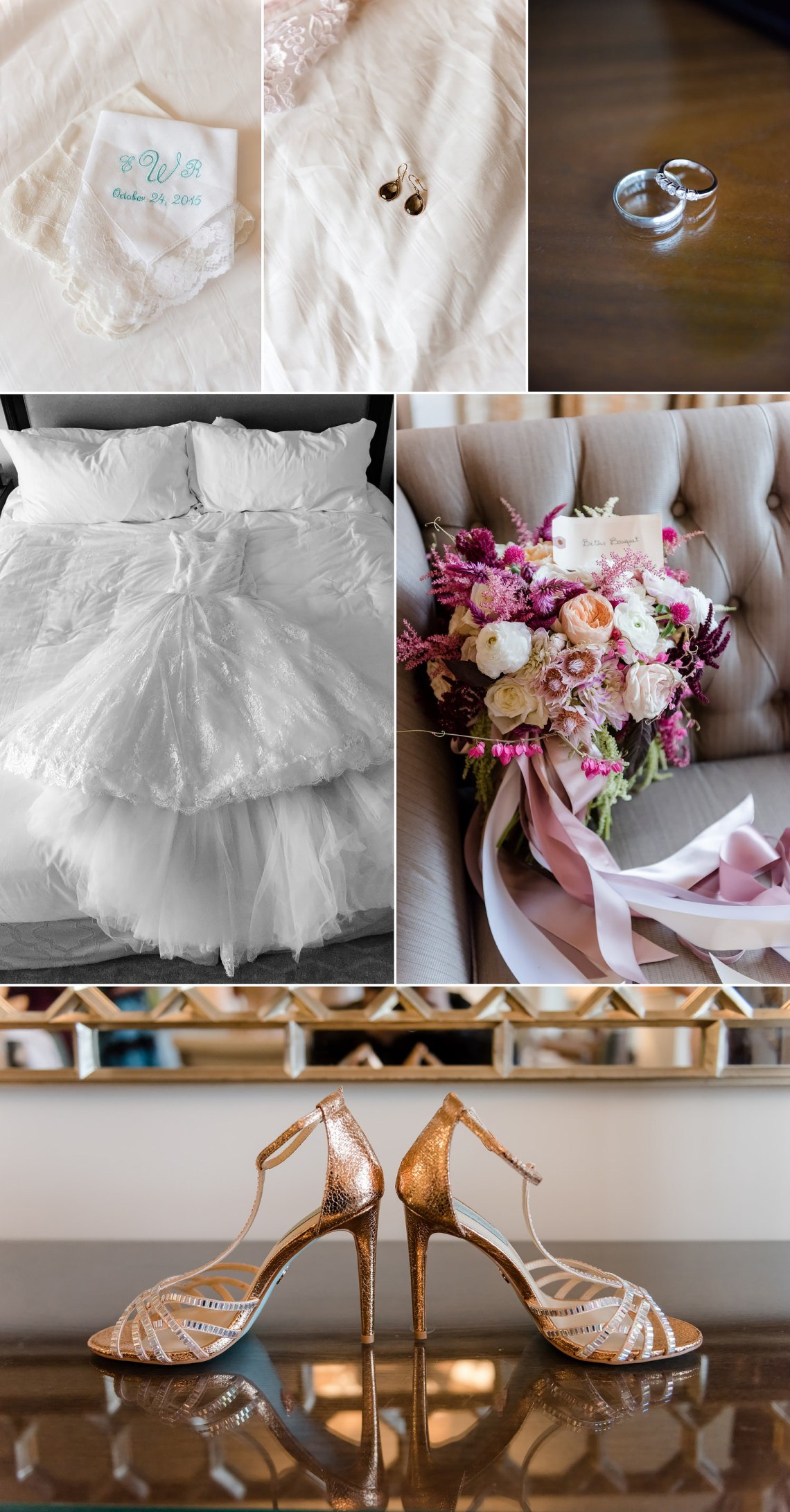 bridal, wedding, gown, dress, bouquets shoes, rings, Houston Wedding Photographers