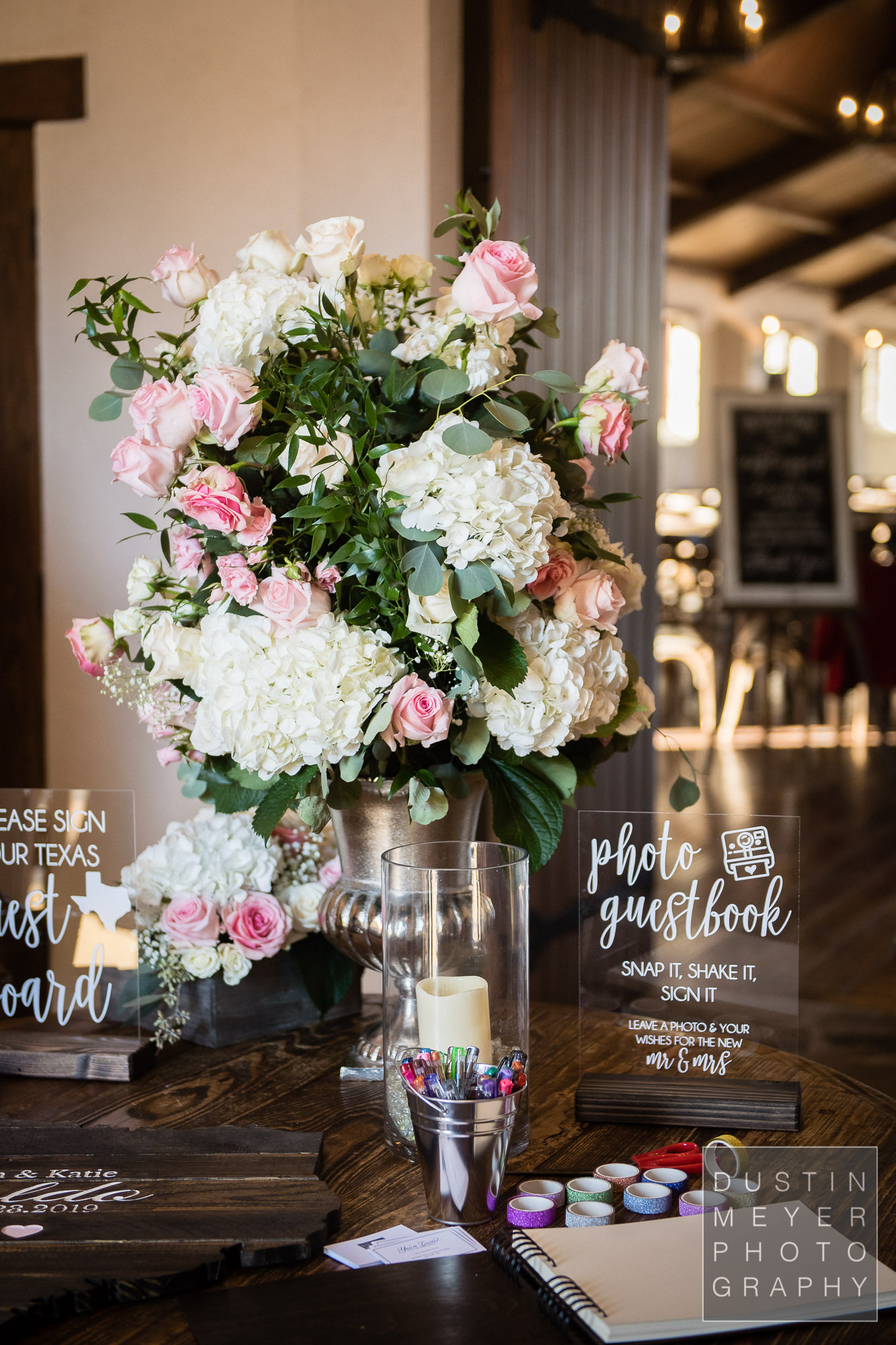 A wedding floral arrangement centerpiece for the ceremony