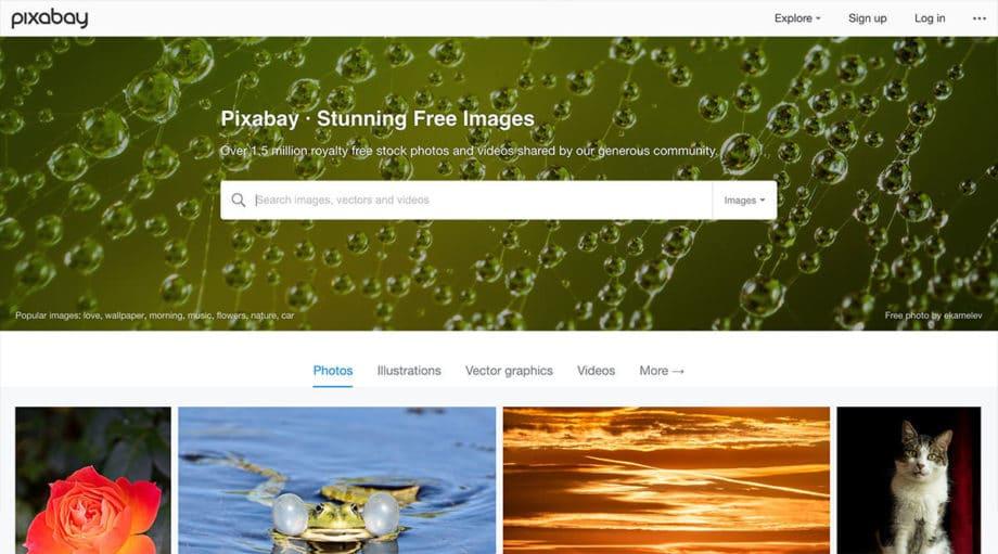 pixabay free images screenshot