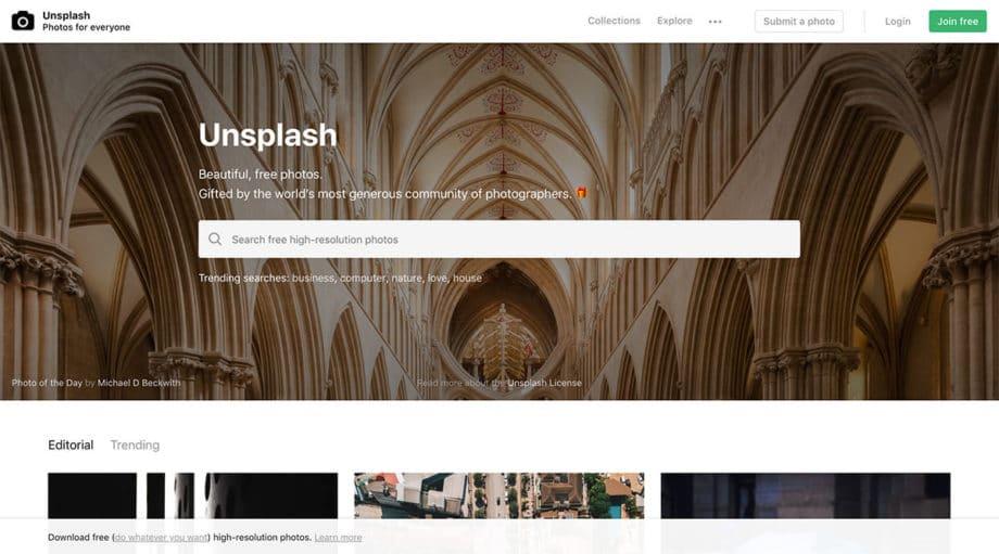 unsplash free photos screenshot