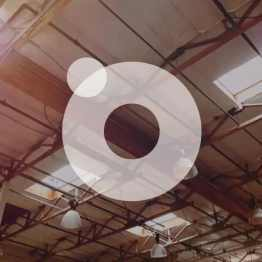 industrial ceiling with circles