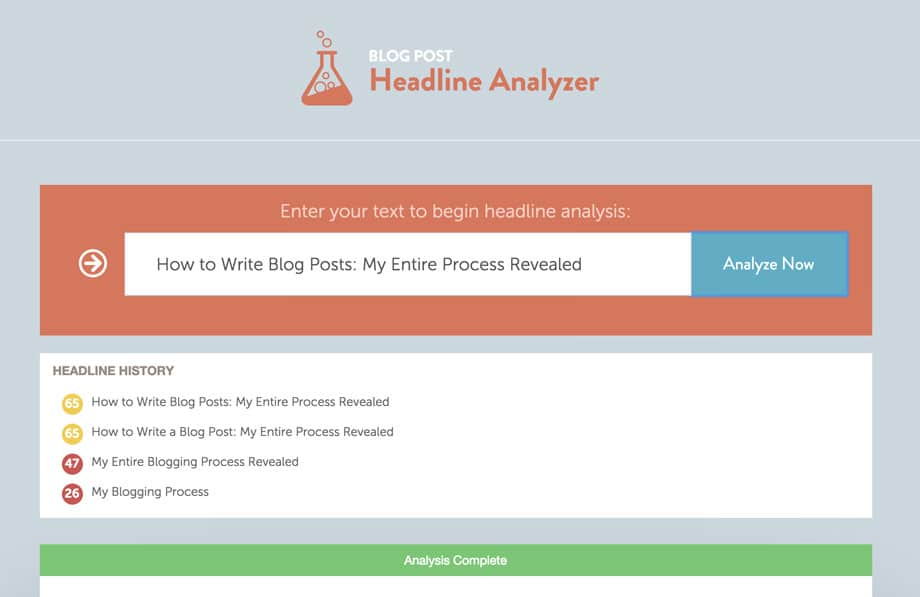 CoSchedule Headline Analyzer