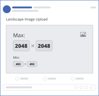 facebook single landscape upload mockup