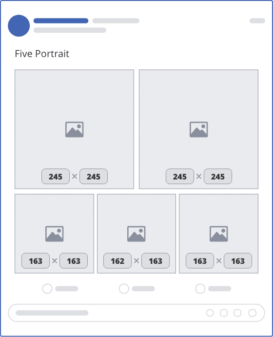 facebook five portrait upload mockup