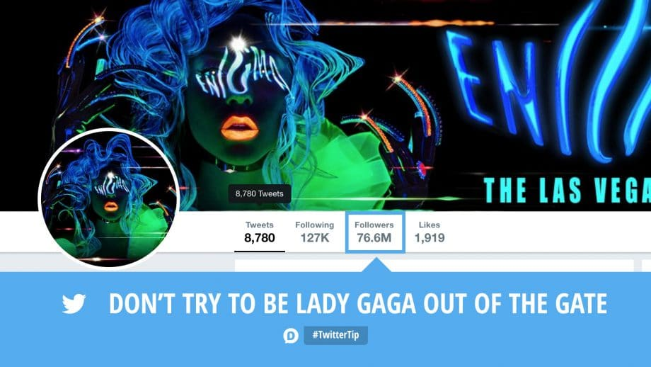 lady gaga how to use twitter tip