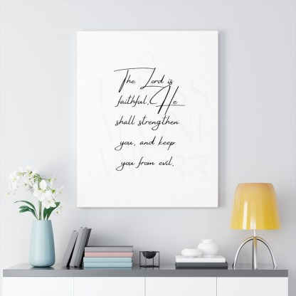 2 Thess 3_3 Wall Decor Canvas