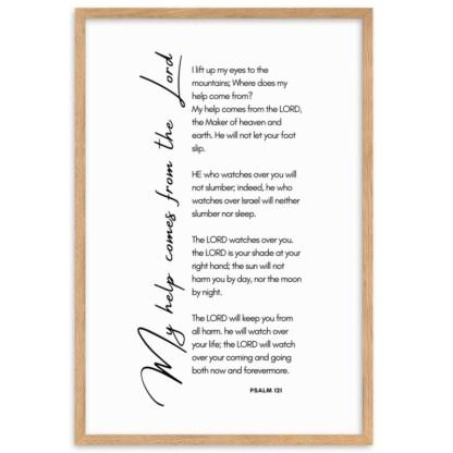 Psalm 121 oak 61x91cm framed poster