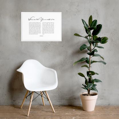 Psalm 8 enhanced-matte-paper-framed-poster-(cm)-white-50x70-cm-lifestyle-2-60301076d3623