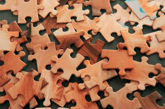 brown puzzle pieces