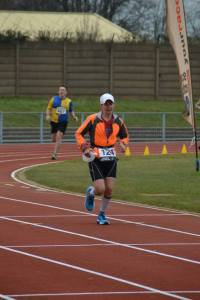 The end of a painful half marathon - spot the classic knocked knees and collapsed core of pain. (Photo credit: Free Running Club Photos by Sarah Burton).