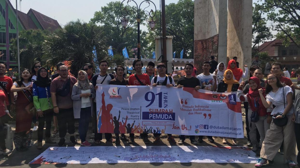 Pemuda Jawa Timur Tolak Radikalisme dan Hoax
