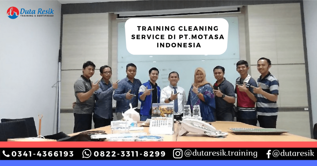 Training Cleaning Service di PT.Motasa Indonesia