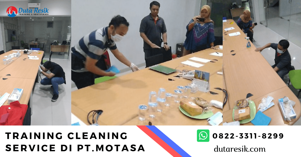 Training Cleaning Service di PT.Motasa