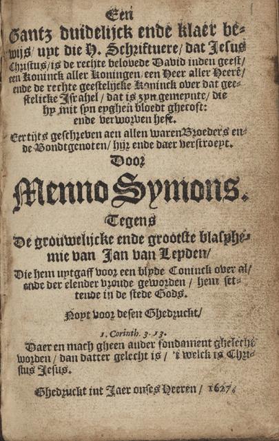 The Blasphemy of Jan of Leiden: A research plan