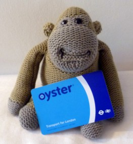 Monkey has his own Oystercard.