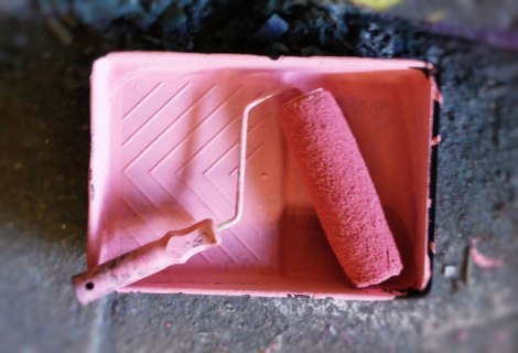 Femme Fierce pink paint