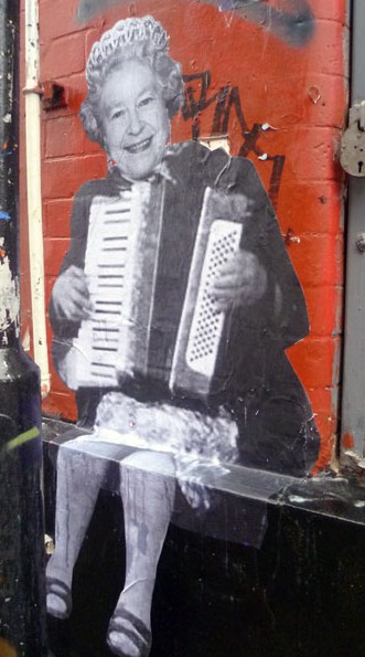 Queen Elizabeth plays the accordeon by Mr Fahrenheit