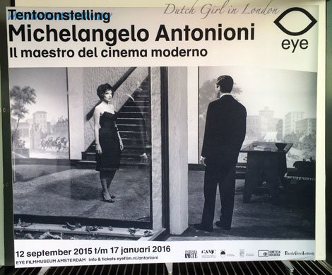 Michelangelo Antonioni exhibition at EYE film museum