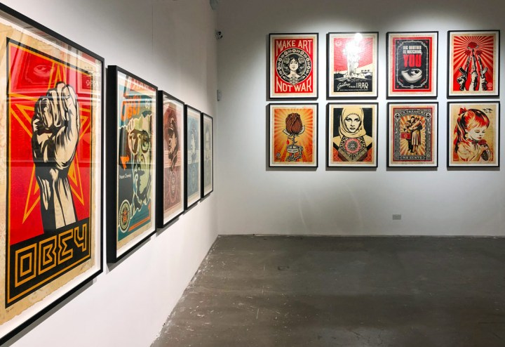 Shepard Fairey London exhibition Facing the Giant at The Beats by Dr Dre