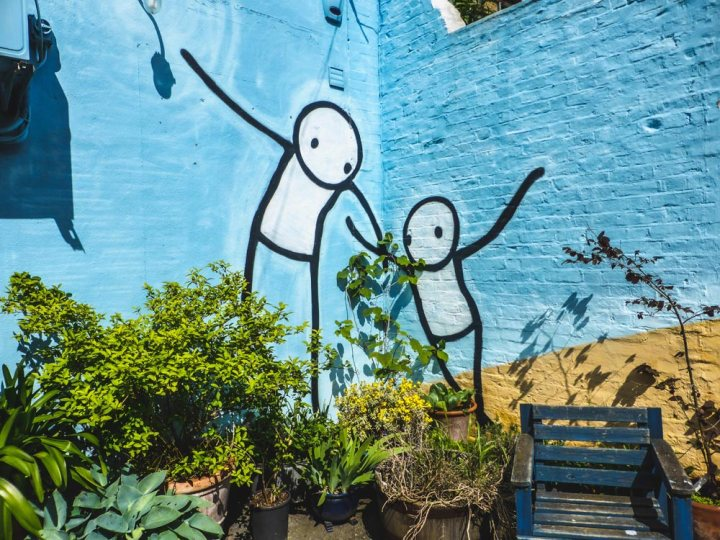 London street artist Stik in Dulwich