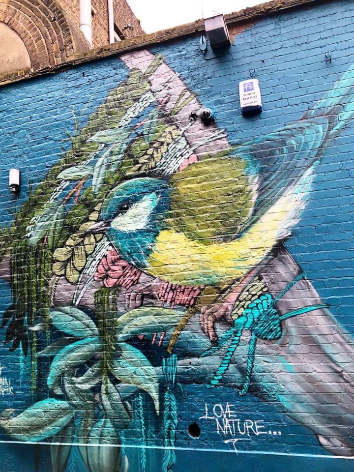 street art by Louis Masai in Camden London