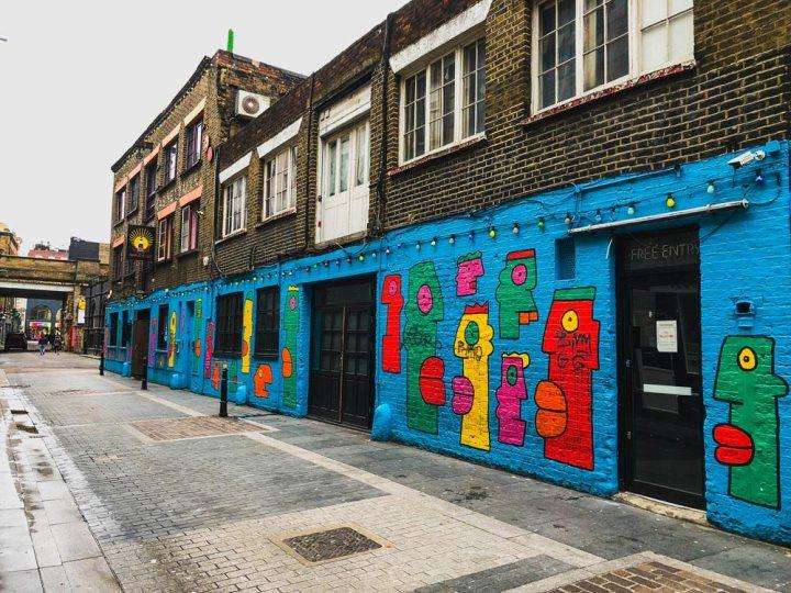 Big street artwork by Thierry Noir on Rivington Street