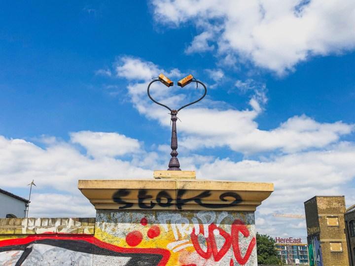 heart-shape surveillance cameras in Hackney Wick