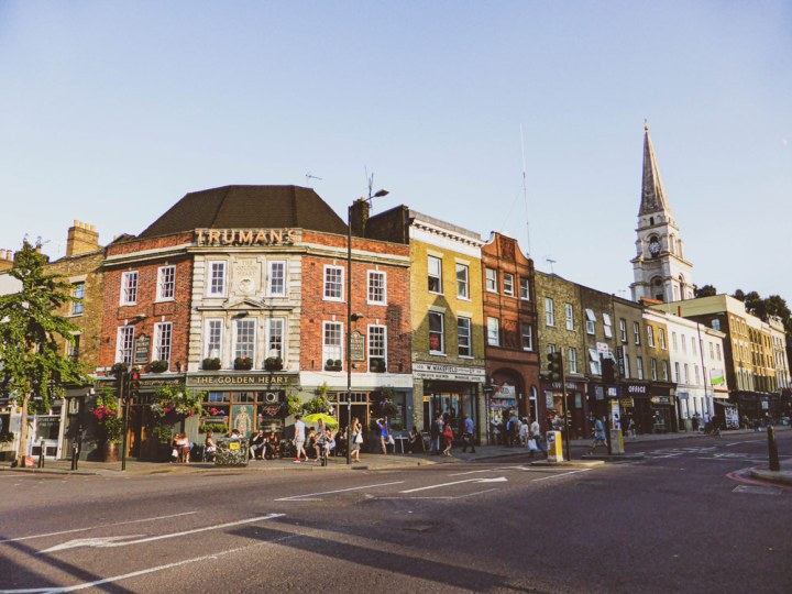You can still see old signs for Truman beer on pubs in London