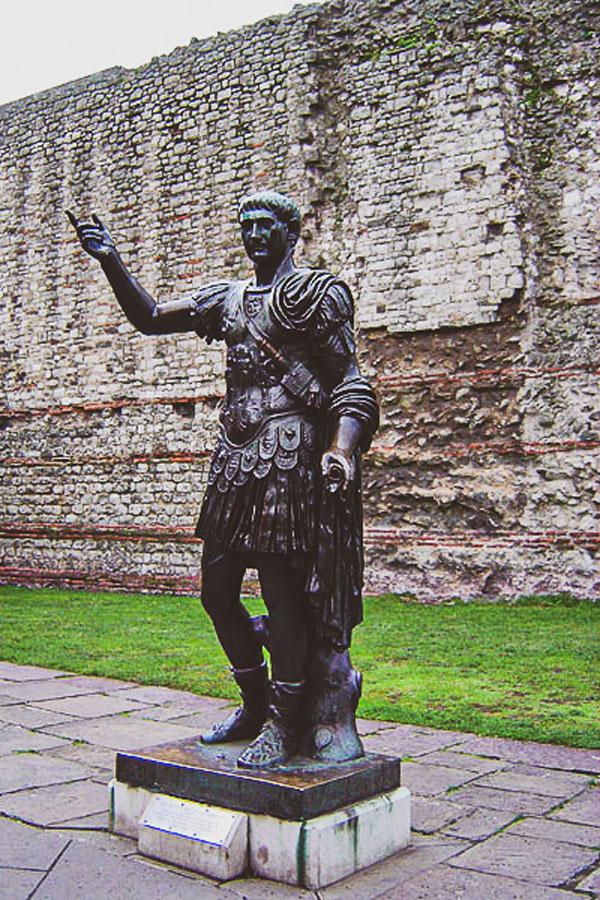 Roman London statue of Emperor Trajan