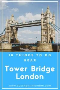 Pinterest image for 10 things to do near Tower Bridge, London