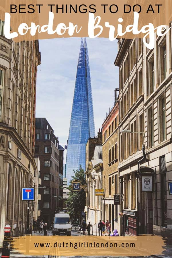 Pinterest image for best things to do near London Bridge