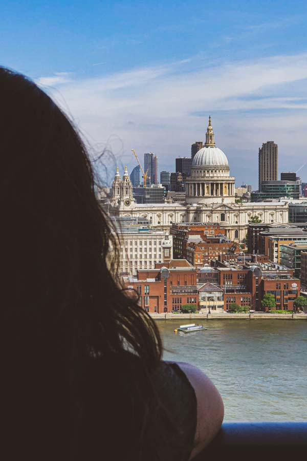 St Paul's Cathedral, London, photo taken from Tate Modern viewing platform