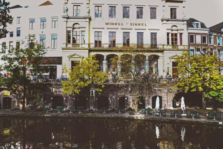 Winkel van Sinkel restaurant and café by the canals in Utrecht, the Netherlands