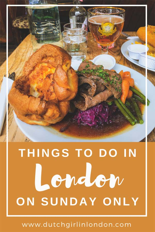 Pinterest image for Things to do in London on Sunday