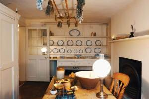 The kitchen of Charles Dickens house in London