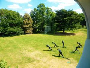 Laura Ford sculptures Strawberry Hill House garden (2015)
