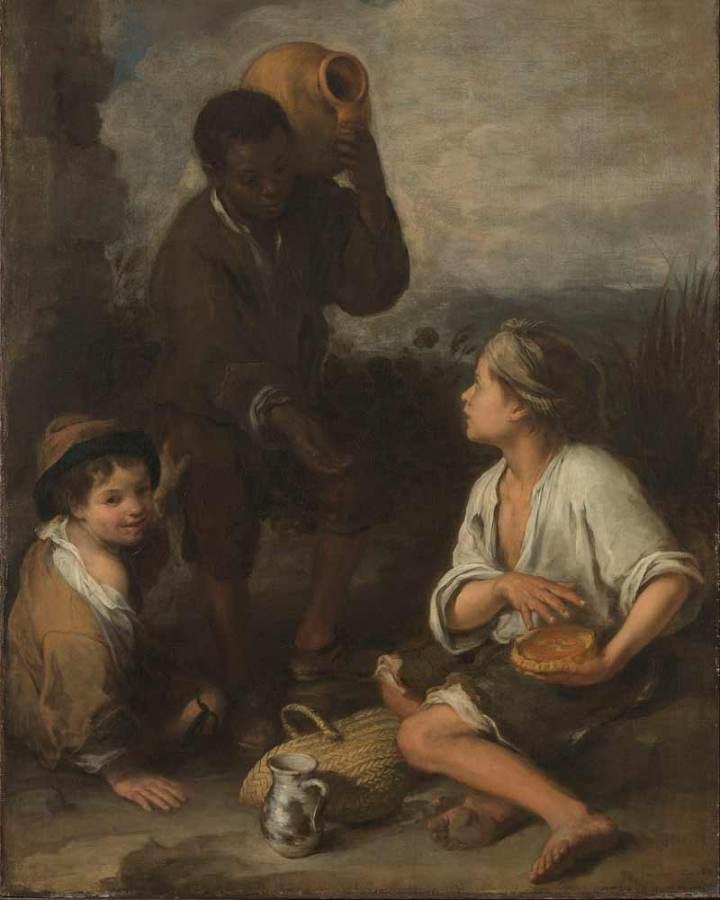 Painting 'Three Boys' by Bartolomé Esteban Murillo