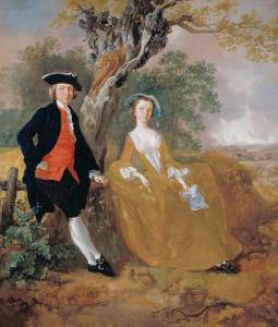 Painting 'A Couple in a Landscape' by Thomas Gainsborough