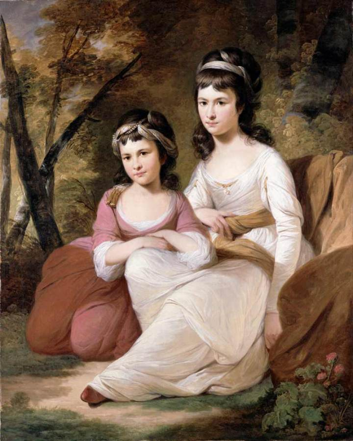 Painting 'Eliza and Mary Davidson' by Tilly Kettle