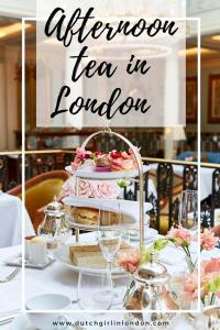 Pinterest image to pin this article about afternoon tea in London