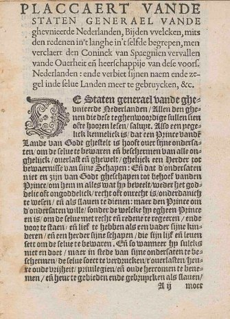 Plakkaat_van_Verlatinghe,_pagina_1