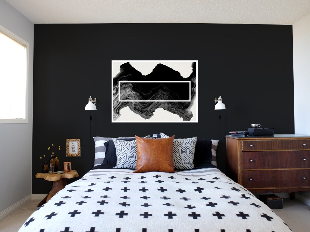Dutchie Love Master Bedroom with Black and White photography artwork