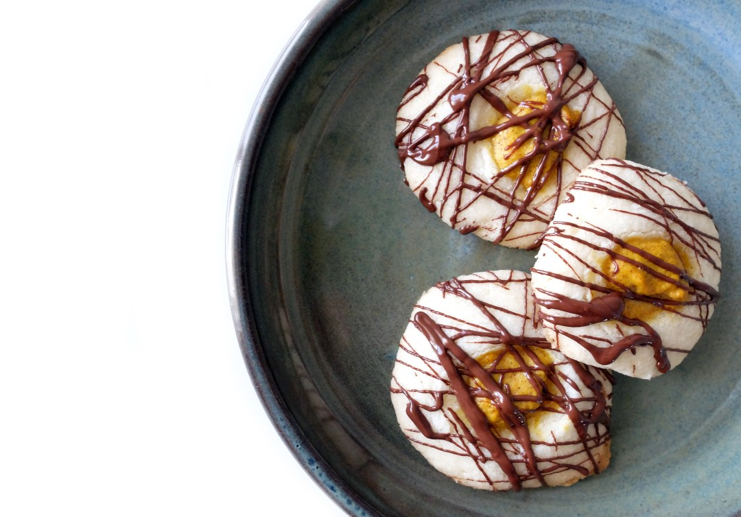 Gluten-free pumpkin thumbprint cookie recipe