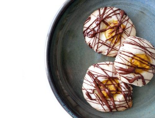 Gluten-free pumpkin thumbprint cookie recipe