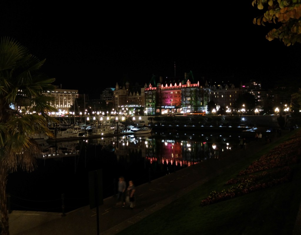 Victoria Inner Harbour at Night with Dutchie Love